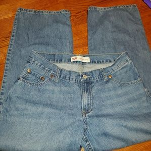 Levi's 550 relaxed size 14 Husky jeans
